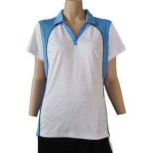 IZOD White & Blue Golf Shirt XL